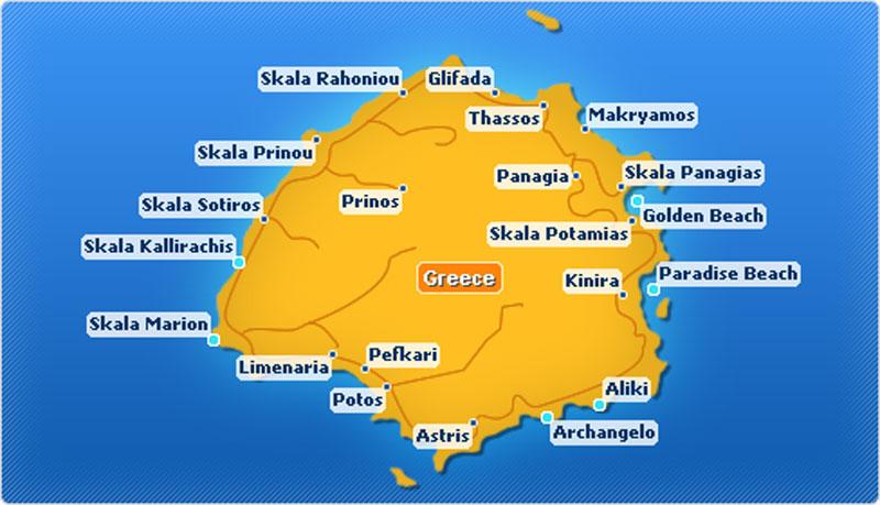 mapa tasosa Tasos | LIVE TRAVEL mapa tasosa
